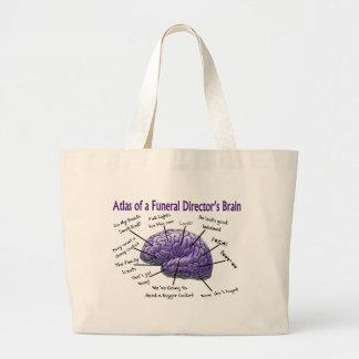 Funeral Director/Mortician Funny Brain Design Jumbo Tote Bag