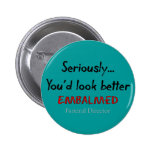 Funeral Director/Mortician Funny Hearse Design Pin
