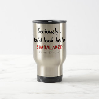 Funeral Director/Mortician Funny Hearse Design Travel Mug