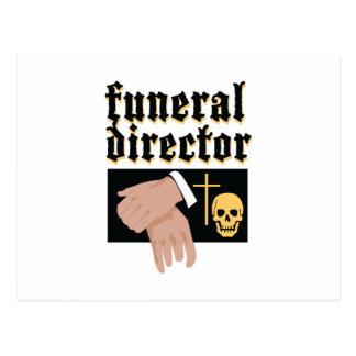 Funeral Director Postcard