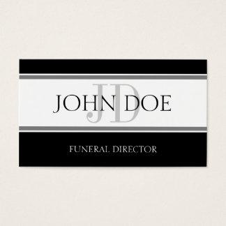 Funeral Director Stripe W/W Business Card