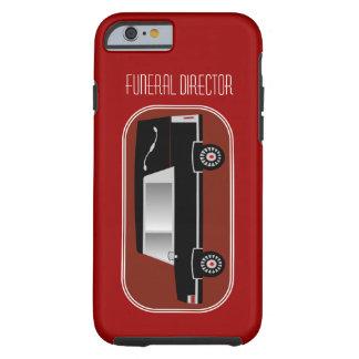 Funeral DirectoriPhone 6 case Hearse Design Red