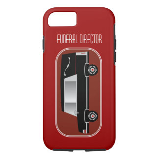 Funeral DirectoriPhone 7 case Hearse Design Red