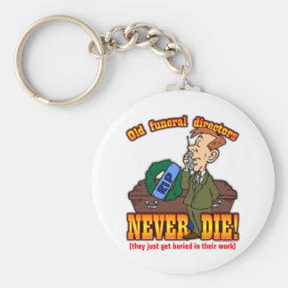 Funeral Directors Basic Round Button Keychain