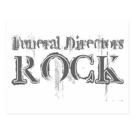 Funeral Directors Rock Postcard