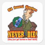 Funeral Directors Square Stickers