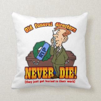 Funeral Directors Throw Pillows