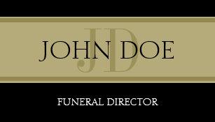 Funeral Home Black Golden Banner Business Card