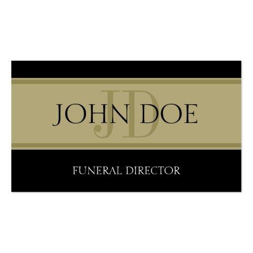 Funeral Home Black/Golden Banner Business Card Templates