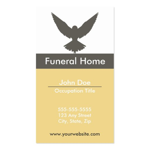 funeral home business card zazzle