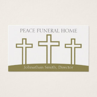Funeral Home Diirector Trinity Crosses Crucifixes Business Card