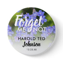 Funeral In Loving Memory | Forget-Me-Not Button