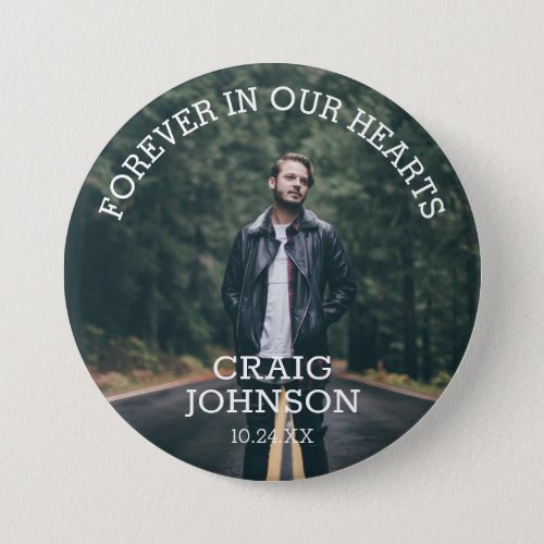 Funeral In Loving Memory  Photo Button