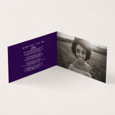 Funeral in our hearts forever purple card