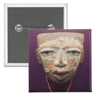 Funeral mask from Teotihuacan Pinback Buttons