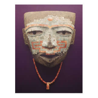 Funeral mask from Teotihuacan Postcard