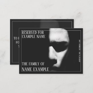 Funeral Meal Place Card- A sleeping face Place Card