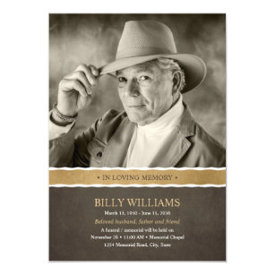 Memorial Service Invitations Announcements Zazzle