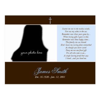 Funeral Memorial Prayer Card Photo Template :: 2A Post Card