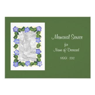 Funeral/Memorial Service Invitation Photo Card