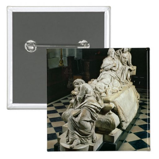 Funeral monument to Armand-Jean du Plessis, Cardin Pinback Button