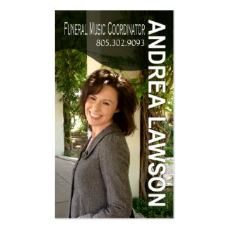 Funeral Music Coordinator Vocalist Photo Double-Sided Standard Business Cards (Pack Of 100)
