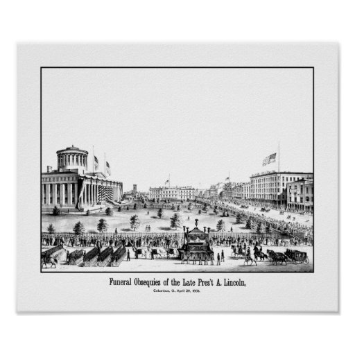 Funeral Obsequies Of President Lincoln Print