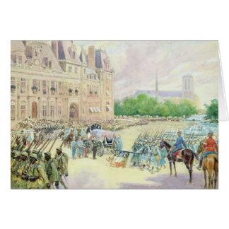Funeral of General Joseph Gallieni  1916 Card