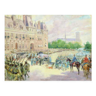 Funeral of General Joseph Gallieni  1916 Postcard