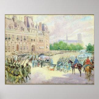 Funeral of General Joseph Gallieni  1916 Poster