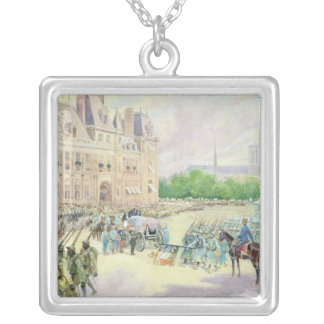 Funeral of General Joseph Gallieni  1916 Silver Plated Necklace
