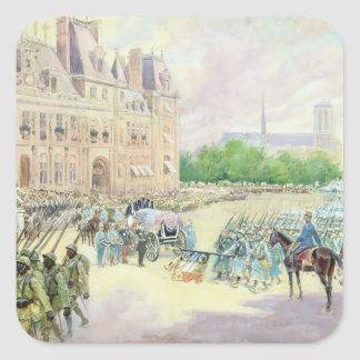 Funeral of General Joseph Gallieni  1916 Square Sticker