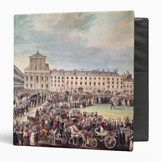 Funeral of Ludwig van Beethoven  in Vienna 3 Ring Binder