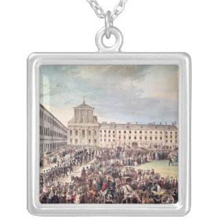 Funeral of Ludwig van Beethoven  in Vienna Silver Plated Necklace