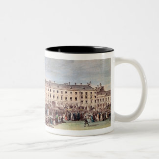 Funeral of Ludwig van Beethoven  in Vienna Two-Tone Coffee Mug