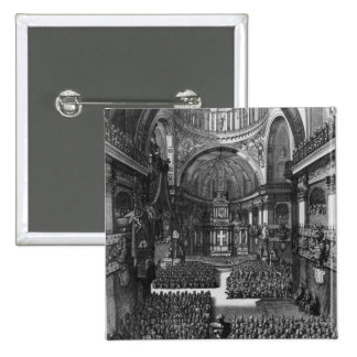 Funeral of Marie-Louise d'Orleans  Queen of 2 Inch Square Button