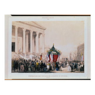 Funeral of the victims of the La Madeleine Postcard