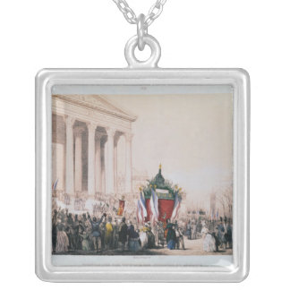 Funeral of the victims of the La Madeleine Silver Plated Necklace