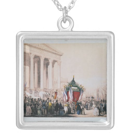 Funeral of the victims of the La Madeleine Square Pendant Necklace