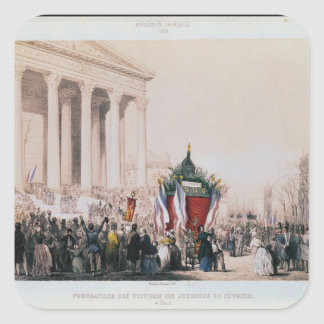 Funeral of the victims of the La Madeleine Square Sticker