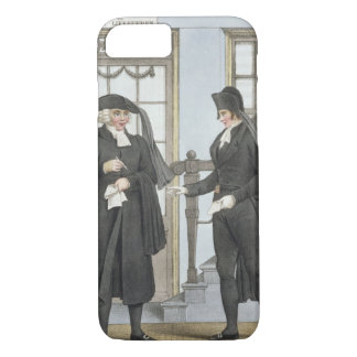 Funeral officials of Amsterdam, illustration from iPhone 7 Case