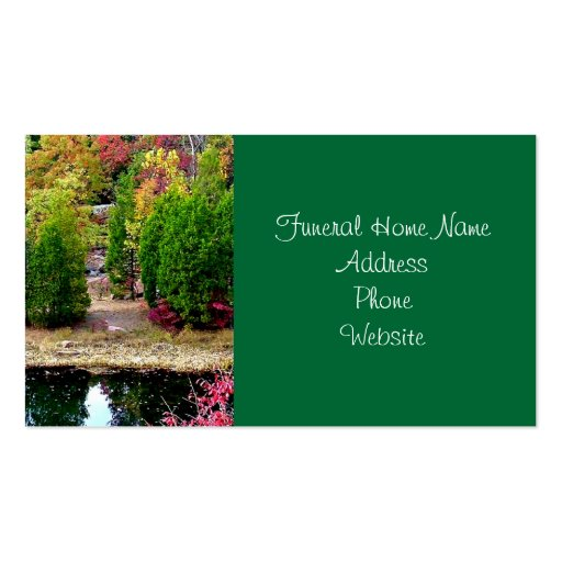 Funeral Or Memorial Business Cards Zazzle