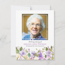 Funeral Photo Thank You | Lavender Memorial