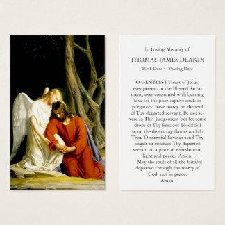 Funeral Prayer Card | Comforting Angel