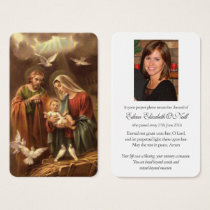 Funeral Prayer Card | Holy Family 5