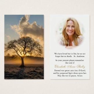 Funeral Prayer Card | Lone Tree
