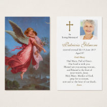 Funeral Prayer Card | Lord Send Your Angels