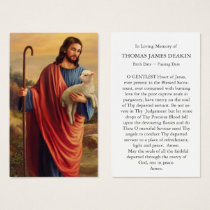 Funeral Prayer Card | Lost Sheep