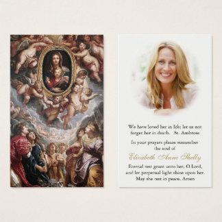 Funeral Prayer Card Madonna Della Vallicella