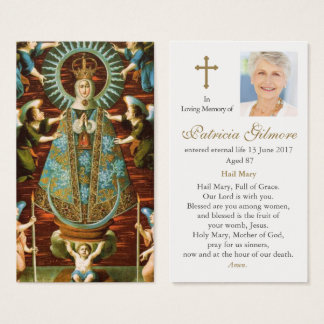 Funeral Prayer Card Our Lady of Lledo
